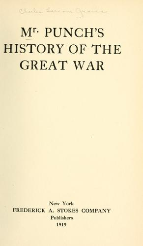 Mr. Punch's history of the Great War.