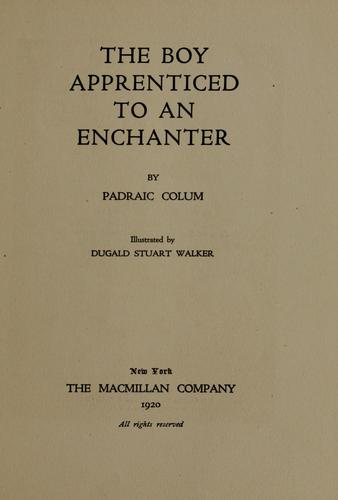 The boy apprenticed to an enchanter by Padraic Colum
