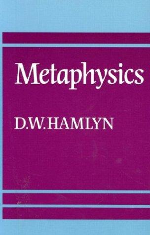 Metaphysics by D. W. Hamlyn