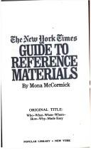 The New York times guide to reference materials =