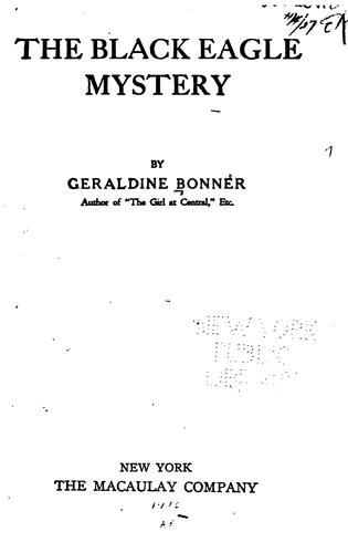 The Black Eagle mystery by Bonner, Geraldine