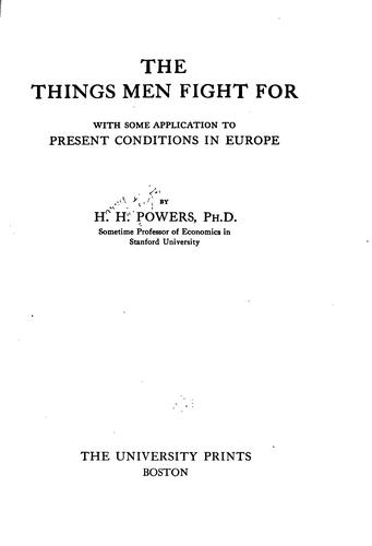 The things men fight for