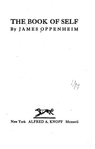 The book of self by Oppenheim, James