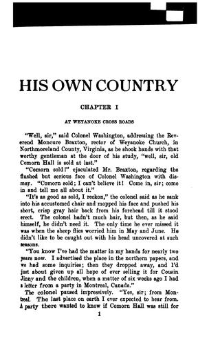 His own country by Paul Kester